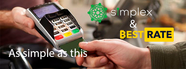 BestRate Partners with Simplex. Buy Bitcoins with a Bank Card with Only 5% Fee.