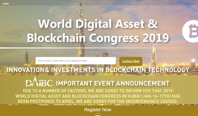 Blockchain Summit in UAE