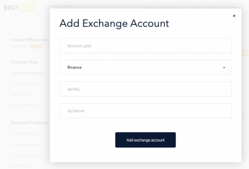 adding Binance API keys